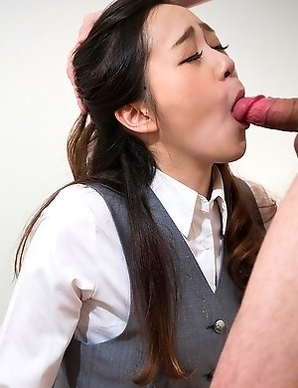 Amateur office girl Nao Isaka has been so sexually deprived shell do anything just to get a glimpse of cock.